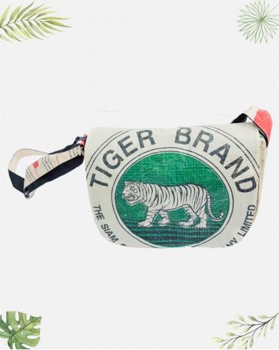 Sac à main Recyclé Tigre Vert