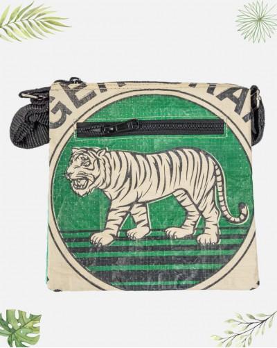 Sacoche Recyclée Tigre Vert