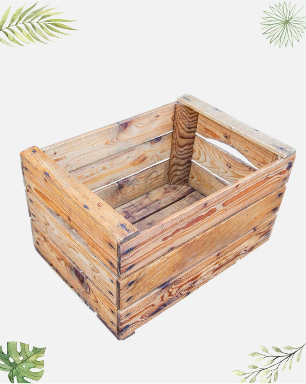 Caisse De Pomme Vide traitée - ancienne caisse à pommes